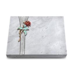 Grabtafel Kashmir Strikt Rose 2 (Color)