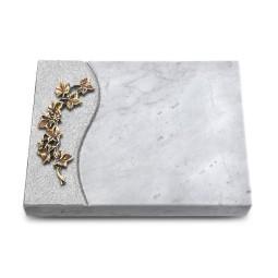 Grabtafel Kashmir Wave Efeu (Bronze)