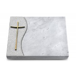 Grabtafel Kashmir Wave Kreuz 2 (Bronze)