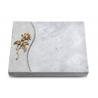 Grabtafel Kashmir Wave Rose 2 (Bronze)