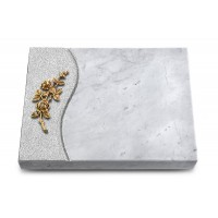 Grabtafel Kashmir Wave Rose 5 (Bronze)