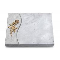 Grabtafel Kashmir Wave Rose 6 (Bronze)