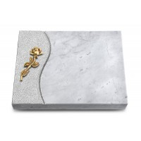 Grabtafel Kashmir Wave Rose 7 (Bronze)