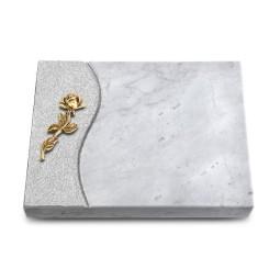 Grabtafel Kashmir Wave Rose 7 (Bronze)