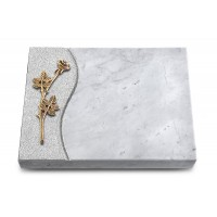 Grabtafel Kashmir Wave Rose 9 (Bronze)