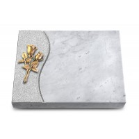 Grabtafel Kashmir Wave Rose 11 (Bronze)