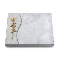 Grabtafel Kashmir Wave Rose 12 (Bronze)