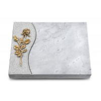 Grabtafel Kashmir Wave Rose 13 (Bronze)