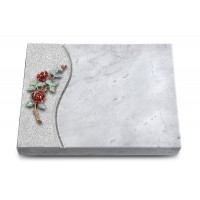 Grabtafel Kashmir Wave Rose 3 (Color)