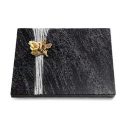 Grabtafel Kashmir Strikt Rose 3 (Bronze)