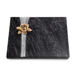 Grabtafel Kashmir Strikt Rose 4 (Bronze)