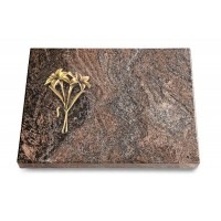 Grabtafel Orion Pure Lilie (Bronze)