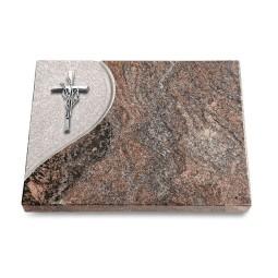 Grabtafel Orion Folio Kreuz/Ähren (Alu)