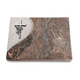 Grabtafel Orion Folio Kreuz/Rose (Alu)