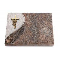 Grabtafel Orion Folio Kreuz/Rose (Bronze)