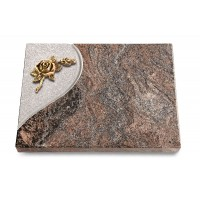 Grabtafel Orion Folio Rose 1 (Bronze)