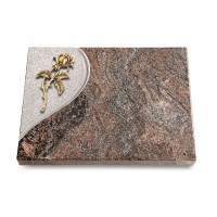 Grabtafel Orion Folio Rose 2 (Bronze)