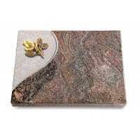 Grabtafel Orion Folio Rose 3 (Bronze)
