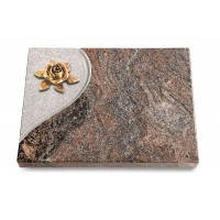 Grabtafel Orion Folio Rose 4 (Bronze)