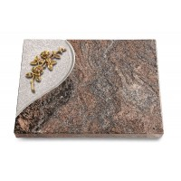 Grabtafel Orion Folio Rose 5 (Bronze)