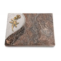 Grabtafel Orion Folio Rose 6 (Bronze)
