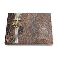 Grabtafel Orion Strikt Kreuz 1 (Bronze)