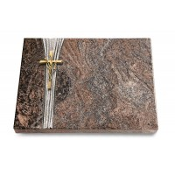 Grabtafel Orion Strikt Kreuz/Ähren (Bronze)