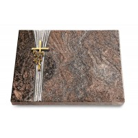 Grabtafel Orion Strikt Kreuz/Rose (Bronze)