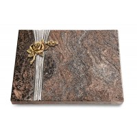 Grabtafel Orion Strikt Rose 1 (Bronze)