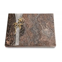 Grabtafel Orion Strikt Rose 2 (Bronze)