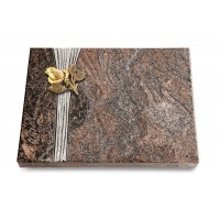 Grabtafel Orion Strikt Rose 3 (Bronze)