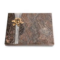 Grabtafel Orion Strikt Rose 4 (Bronze)