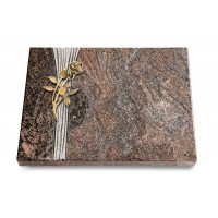 Grabtafel Orion Strikt Rose 6 (Bronze)