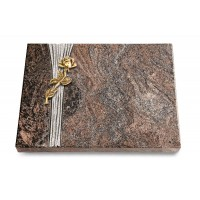 Grabtafel Orion Strikt Rose 7 (Bronze)