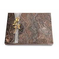 Grabtafel Orion Strikt Rose 8 (Bronze)