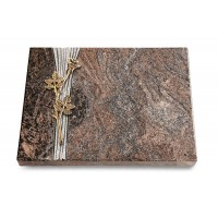 Grabtafel Orion Strikt Rose 9 (Bronze)