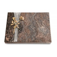 Grabtafel Orion Strikt Rose 10 (Bronze)