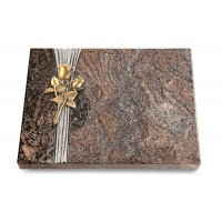 Grabtafel Orion Strikt Rose 11 (Bronze)