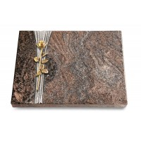 Grabtafel Orion Strikt Rose 12 (Bronze)