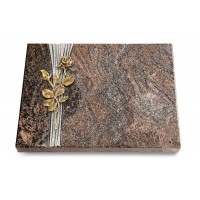 Grabtafel Orion Strikt Rose 13 (Bronze)