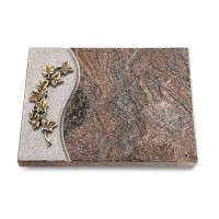 Grabtafel Orion Wave Efeu (Bronze)