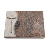 Grabtafel Orion Wave Kreuz 2 (Bronze)