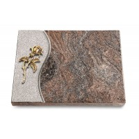 Grabtafel Orion Wave Rose 2 (Bronze)