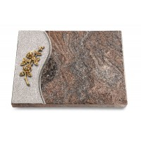Grabtafel Orion Wave Rose 5 (Bronze)