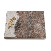 Grabtafel Orion Wave Rose 6 (Bronze)