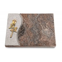 Grabtafel Orion Wave Rose 8 (Bronze)