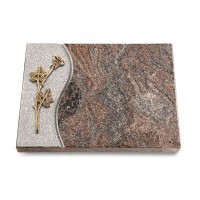 Grabtafel Orion Wave Rose 9 (Bronze)