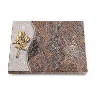 Grabtafel Orion Wave Rose 11 (Bronze)