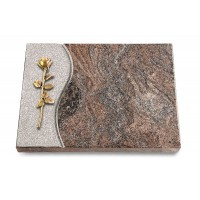 Grabtafel Orion Wave Rose 12 (Bronze)