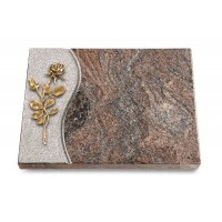 Grabtafel Orion Wave Rose 13 (Bronze)